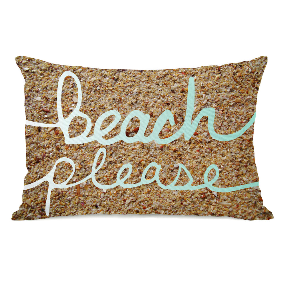 Beach Please Sand - Brown Outdoor Throw Pillow by OBC