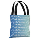 Ride the Wave - Blue Ombre Tote Bag by OBC