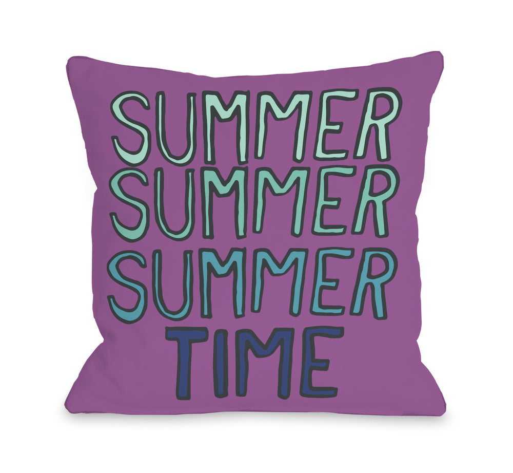 Summer Summer Time - Orchid Throw Pillow by OBC