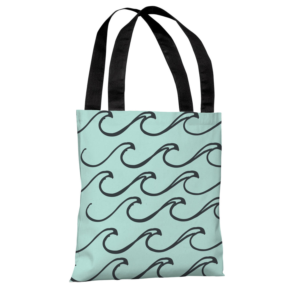Kayla Wave - Light Blue Tote Bag by OBC