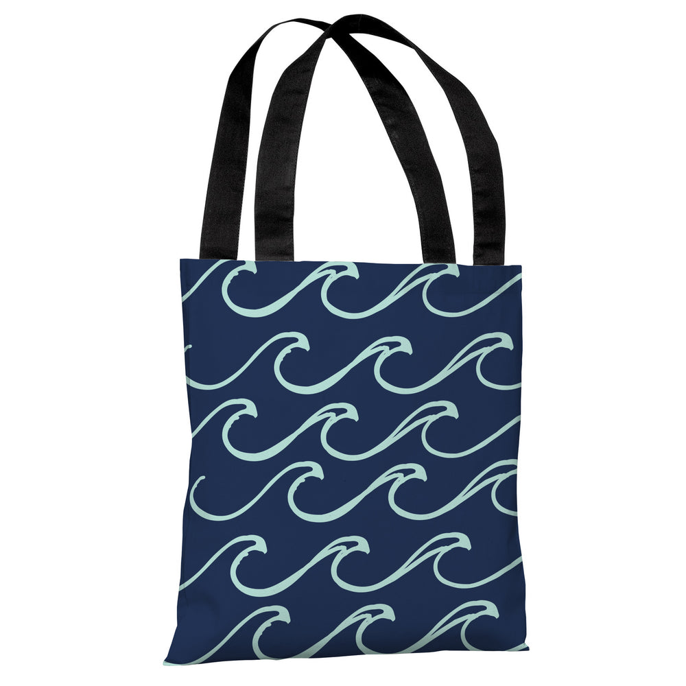 Kayla Wave - Dark Blue Tote Bag by OBC