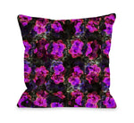 Hibiscus Pattern - Pink Multi Throw Pillow by OBC