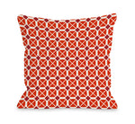 Abegayle Geo - Red Outdoor Throw Pillow by OBC