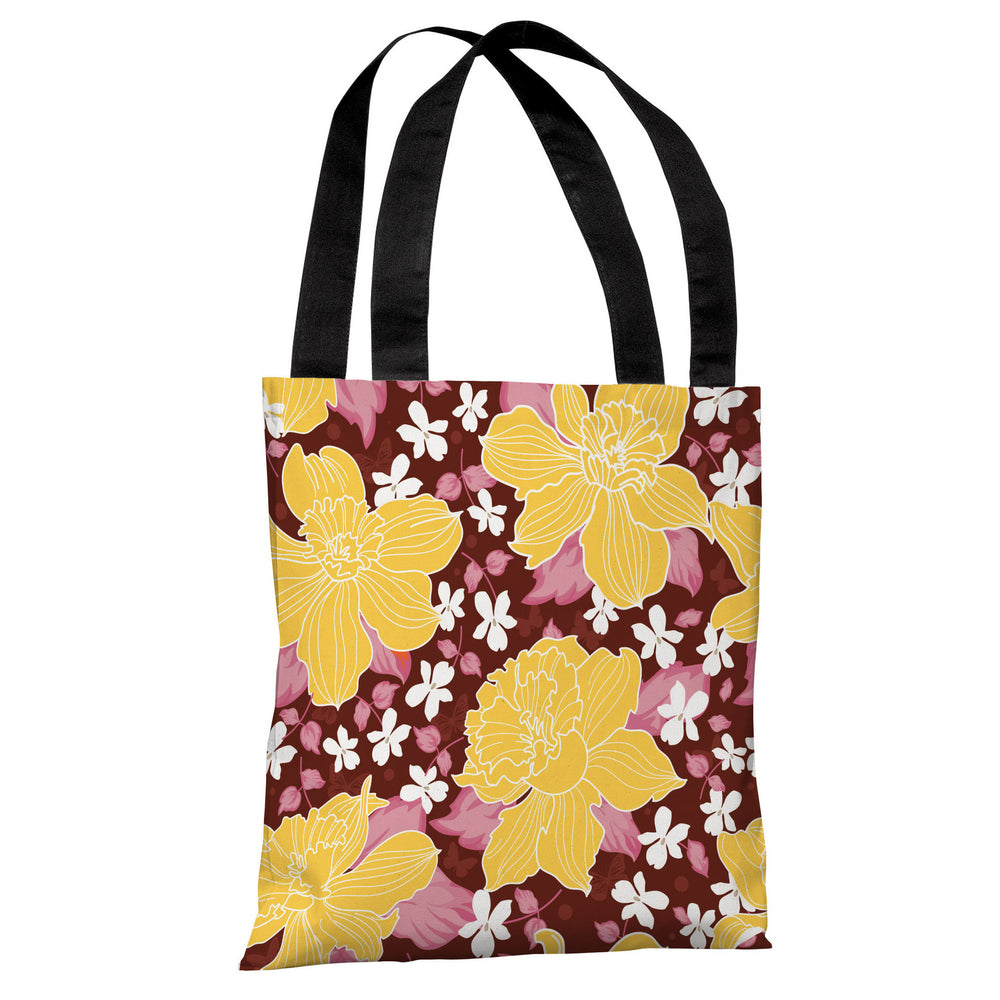 Exotic Flowers - Espresso Multi Tote Bag by OBC