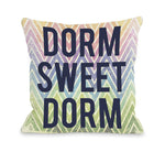 Dorm Sweet Dorm Chevron - Multi Throw Pillow by OBC