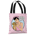 Which Outfit Popart - Pink White Tote Bag by Dog is Good