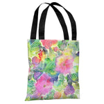 Rainbow Splatter Flower - Multi Tote Bag by Ana Victoria Calderon