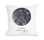 Rising Energy - White Gray Throw Pillow by Ana Victoria Calderon