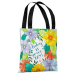 Today is Your Day Florals - Multi Tote Bag by Ana Victoria Calderon