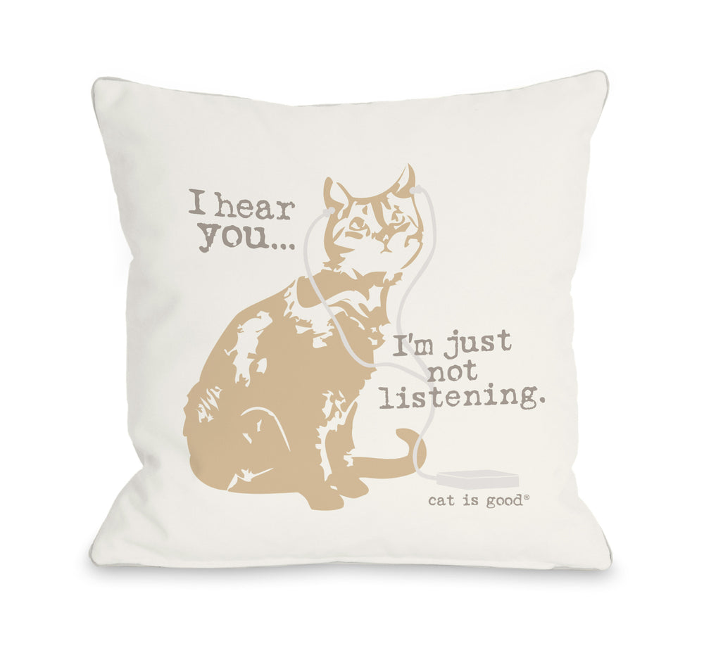Not Listening Cat - Ivoryby OneBellaCasa Affordable Home D_cor
