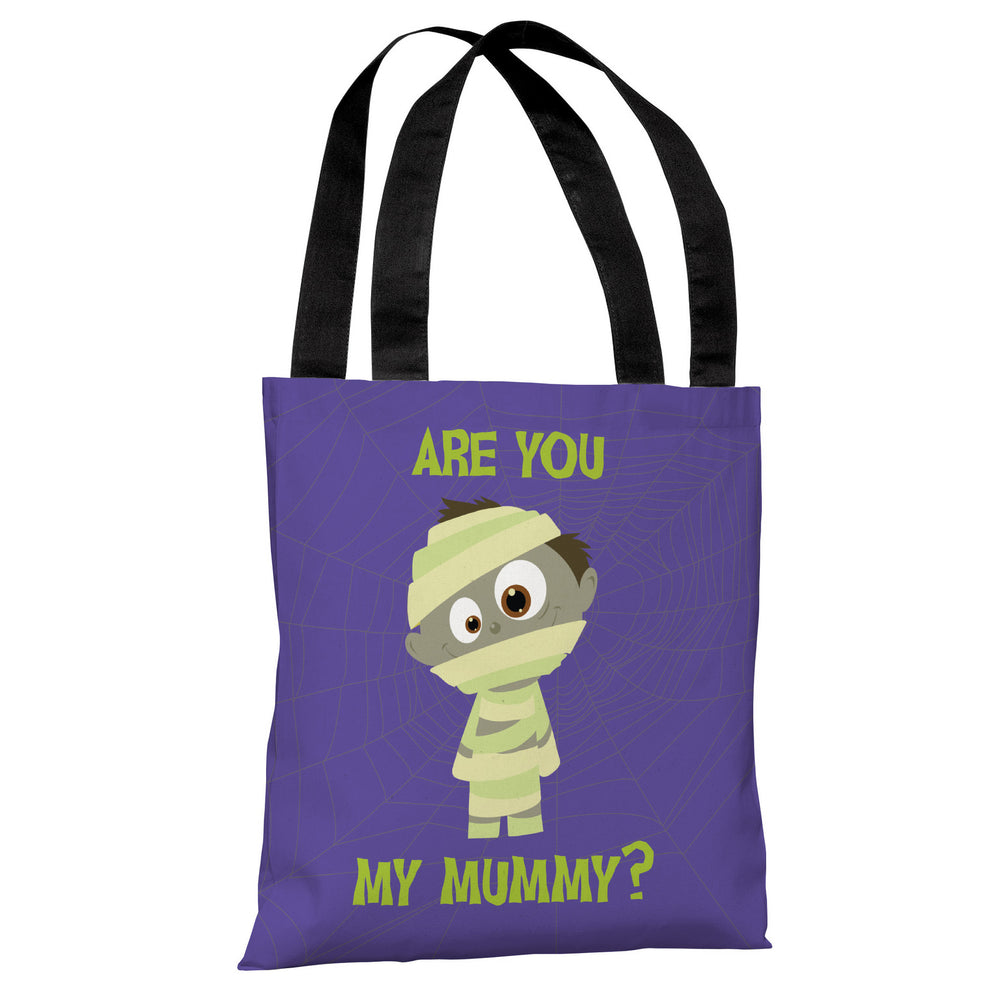 Are You My Mummy - Purple Green Tote Bag by OBC