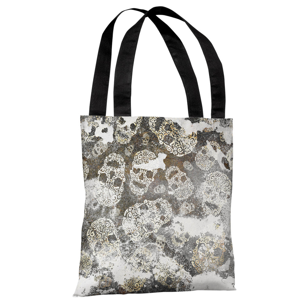 Stamped Skulls - Multi Tote Bag by OBC