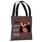 Vlood Sucking Owl - Gray Multi Tote Bag by OBC