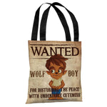 Wanted Wolf Boy - Multi Tote Bag by OBC