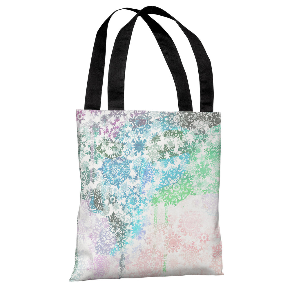 Colorful Snowflakes - Multi Tote Bag by OBC