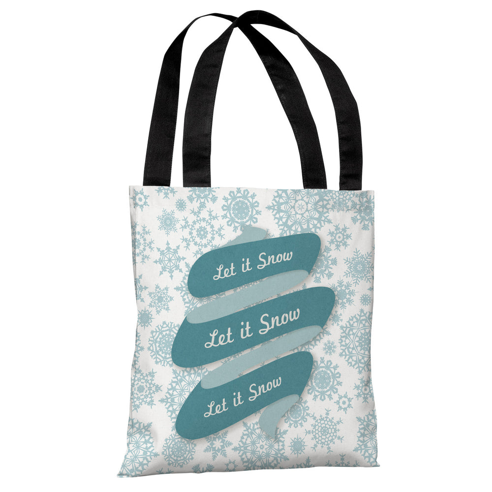 Let It Snow - Light Gray Tote Bag by OBC