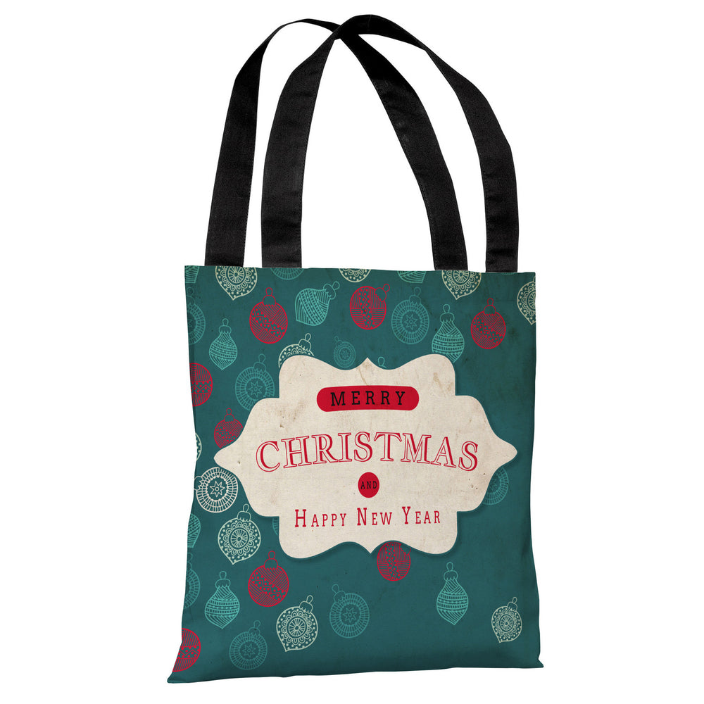 Assorted Ornaments - Teal Tan Tote Bag by OBC