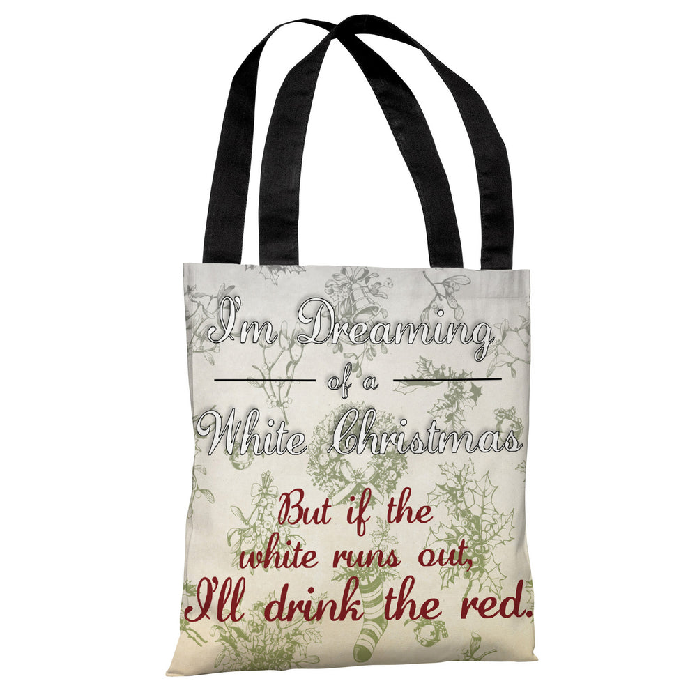 White Christmas Red Wine - Multi Tote Bag by OBC
