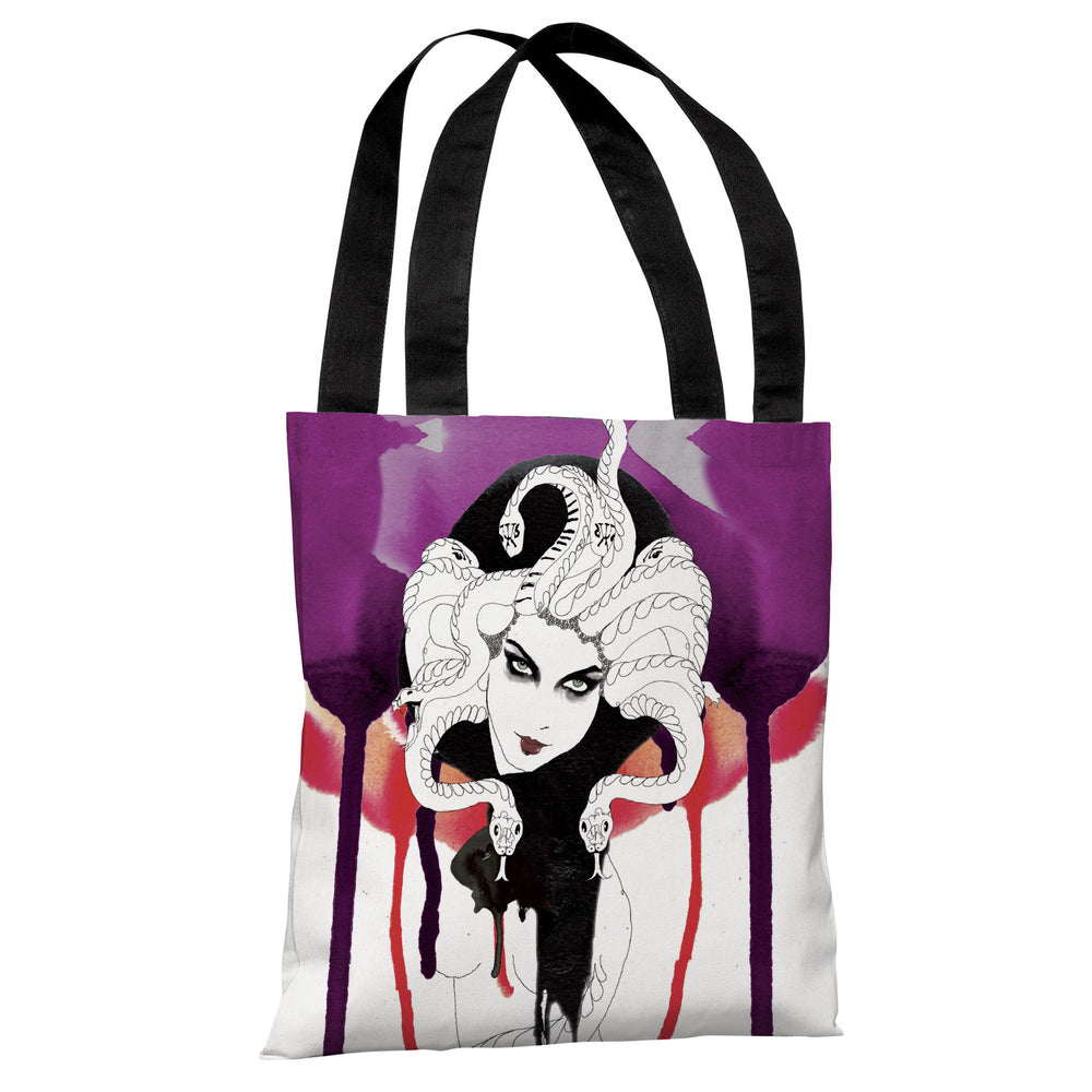 Femme Fatale  - White Multi Tote Bag by Judit Garcia Talvera