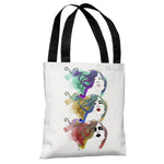 Mermaid Hair  - White Multi Tote Bag by Judit Garcia Talvera