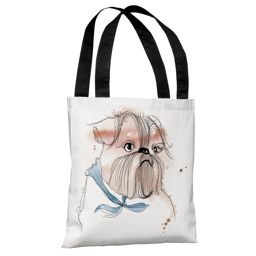 Terrior Puppy  - White Multi Tote Bag by Judit Garcia Talvera