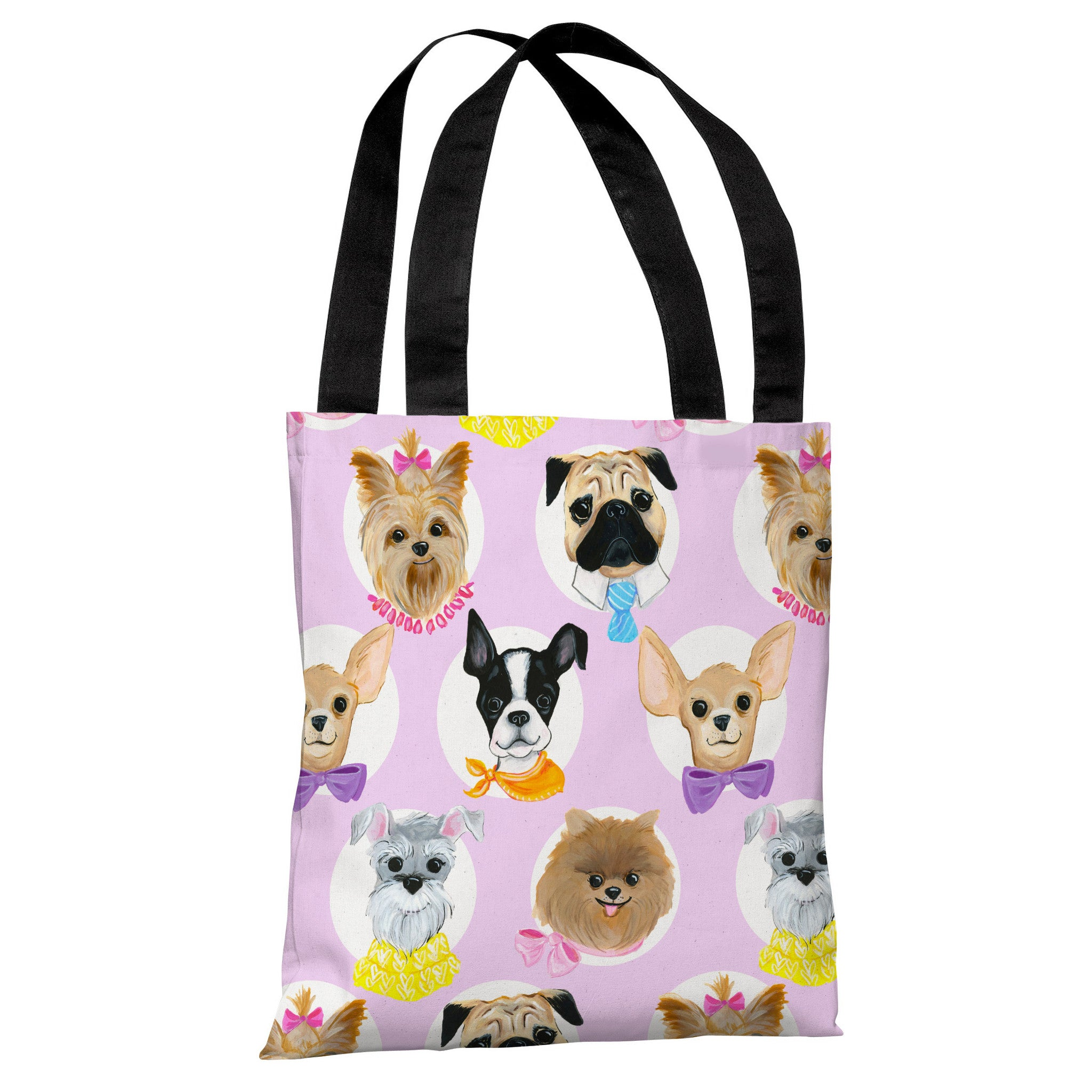 Art Bag Nyc Love From Nyc 10 Dogs Pink Multi Tote Bag By April Heather Art