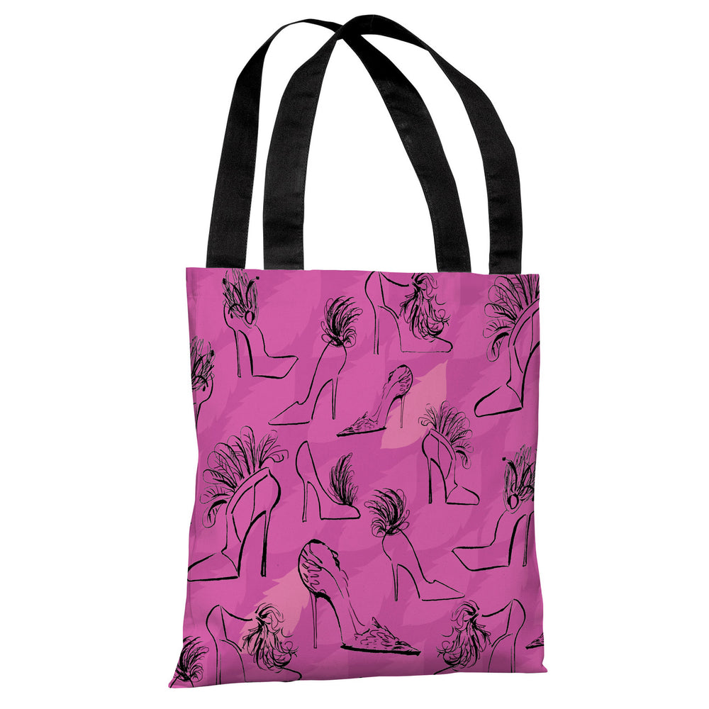 Stilettos Feathers 6 - Multi Tote Bag by April Heather Art