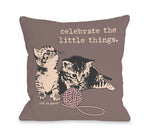 Celebrate Little Things Throw Pillow by Dog Is Good