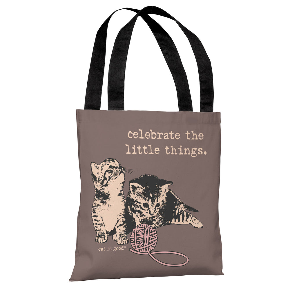 Celebrate the Little Things - Mauve Peach Tote Bag by Dog is Good