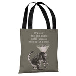 Fun and Games - Stone Grey Tote Bag by Dog is Good