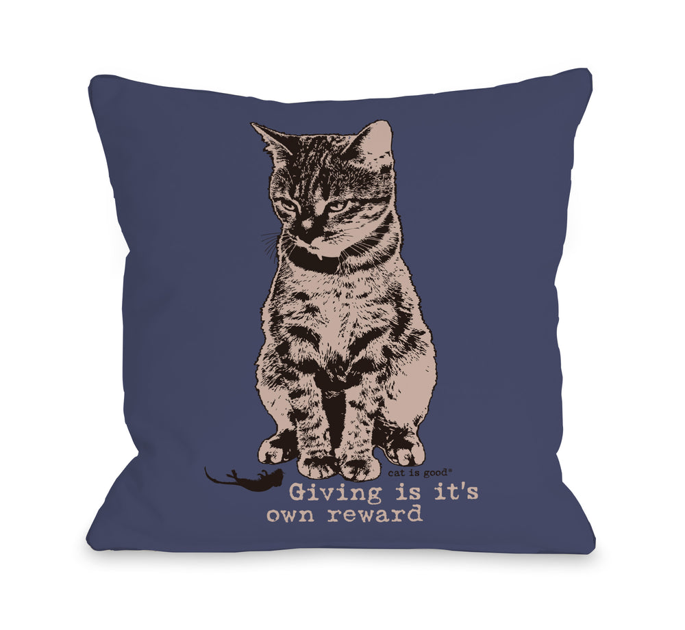Giving is Its Own Reward Throw Pillow by Dog Is Good