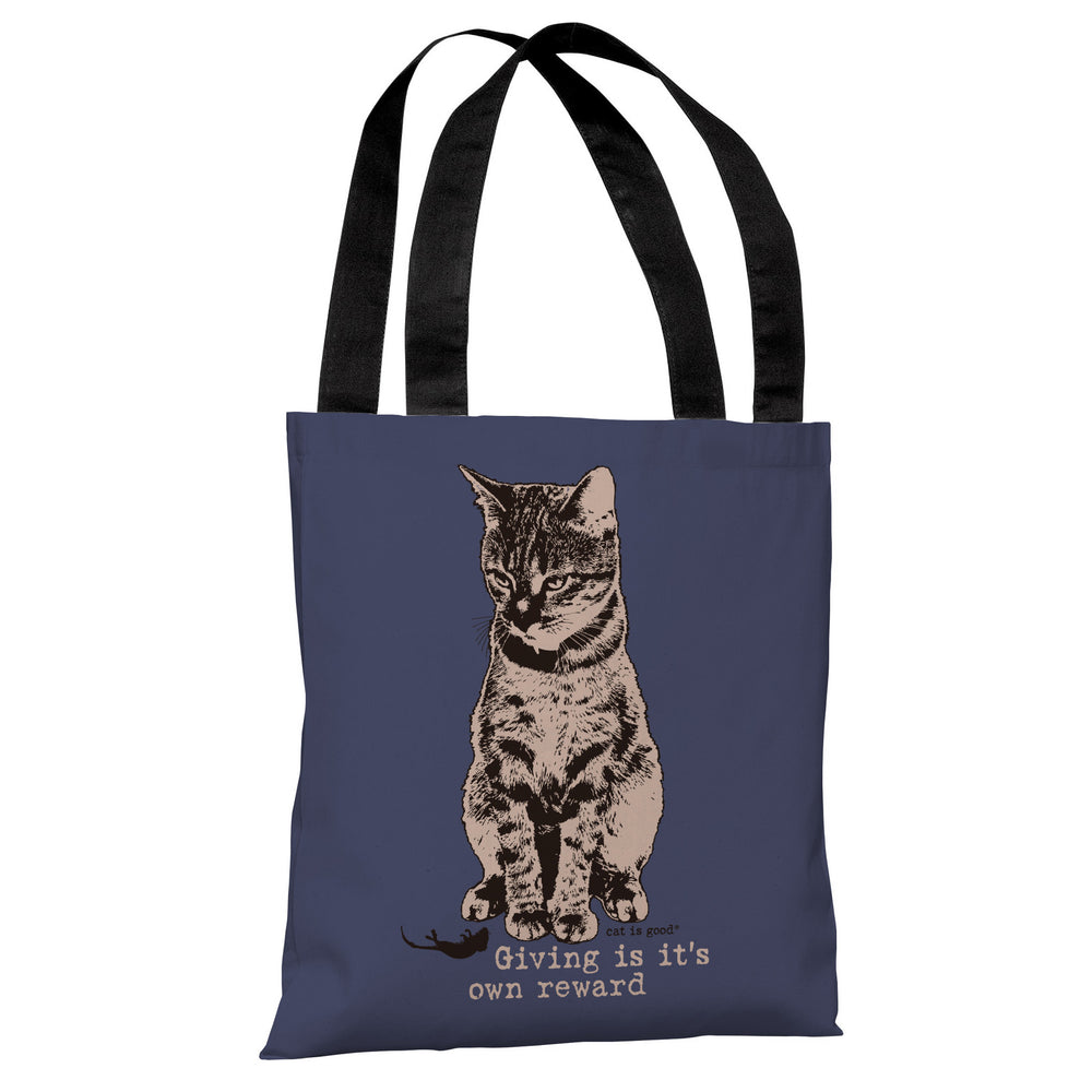 Giving is its Own Reward - Indigo Tan Tote Bag by Dog is Good