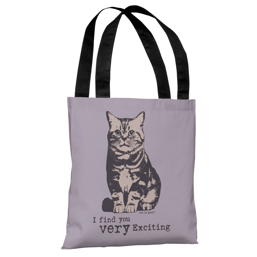 Very Exciting - Lavender Purple Tote Bag by Dog is Good