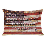America the Beautiful Weathered Flag - Multi Throw Pillow by OBC