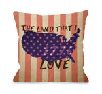 Land that I Love Stripe - Multi Throw Pillow by OBC