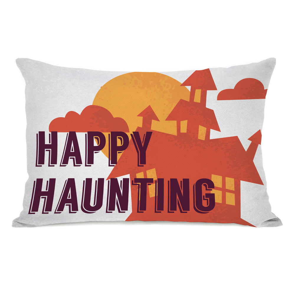 Happy Haunting - Gray Multi 14x20 Pillow by OBC