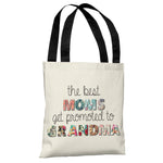 Best Moms Promoted Floral - Ivory Multi Tote Bag by OBC