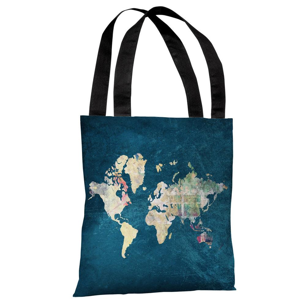 Where to Next - Blue Multi Tote Bag by OBC