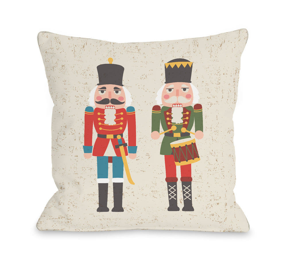 Christmas Soldiers - Multi Throw Pillow by OBC