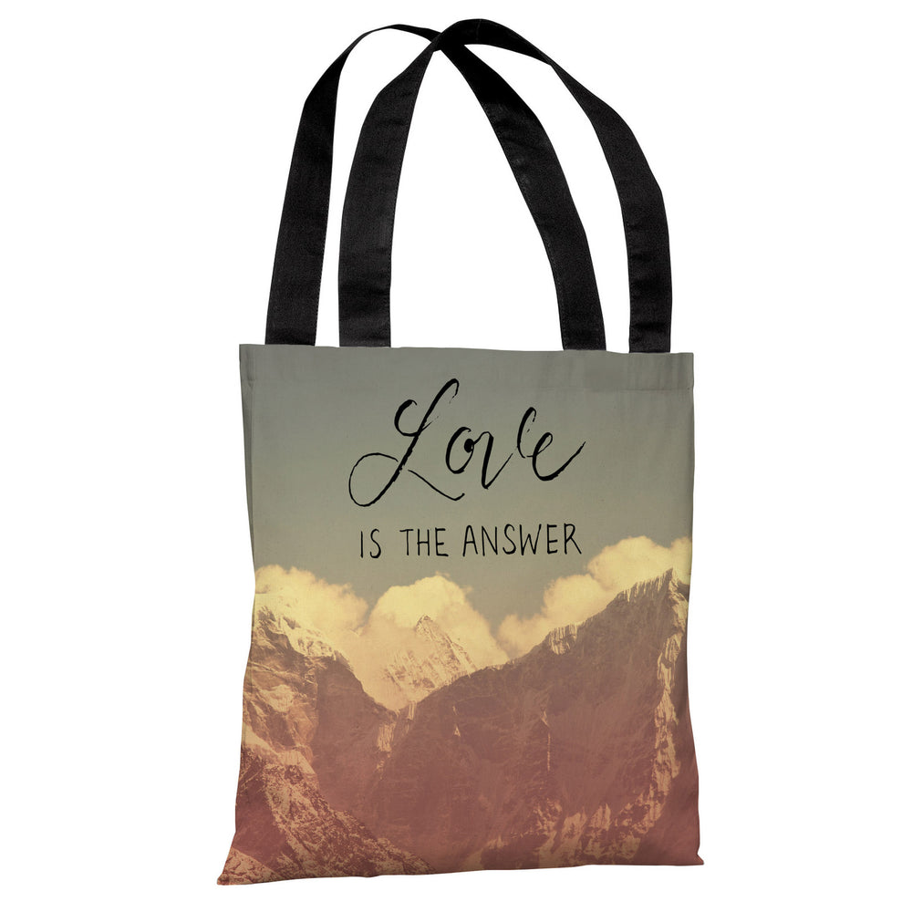 Love is the Answer Mountains - Multi Tote Bag by OBC