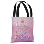 Queen of Effing Everything - Pink Multi Tote Bag by OBC