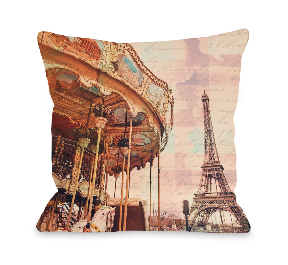 City of Romance - Multi Throw Pillow by OBC
