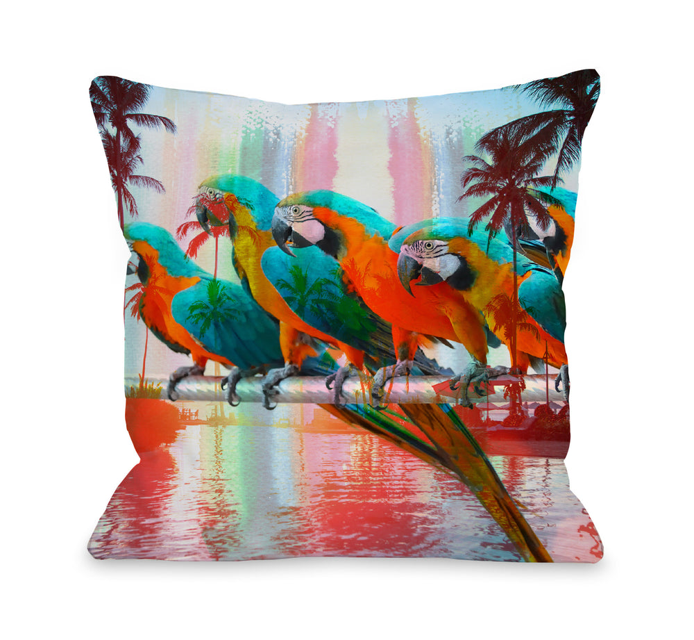 Paradisio - Multi Outdoor Throw Pillow by OBC