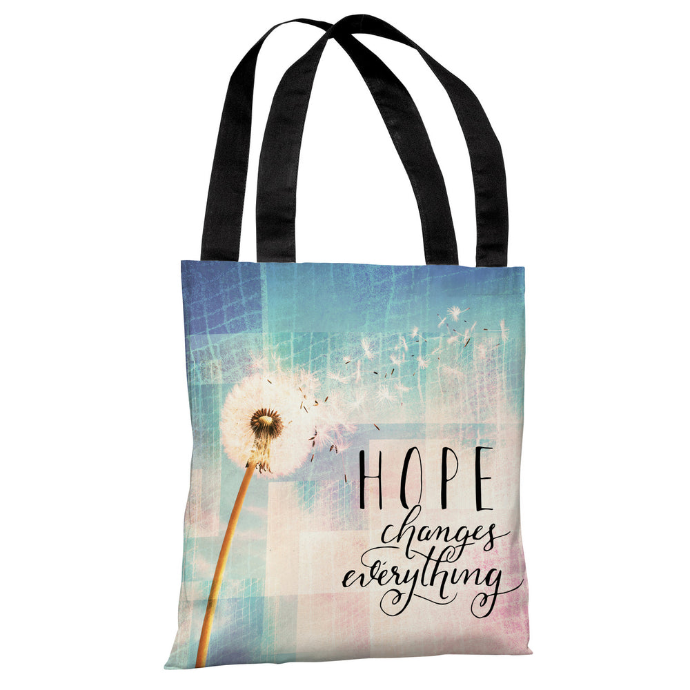 Hope Changes Everything Dandelion - Multi Tote Bag by OBC
