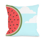 Sky Melon - Blue Multi Outdoor Throw Pillow by OBC