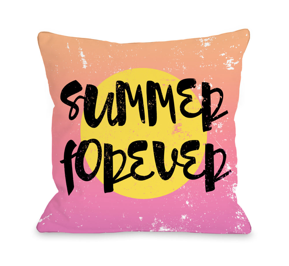 Summer Forever - Multi Outdoor Throw Pillow by OBC