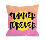 Summer Forever - Multi Throw Pillow by OBC