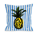 Fineapple - Blue Multi Outdoor Throw Pillow by OBC