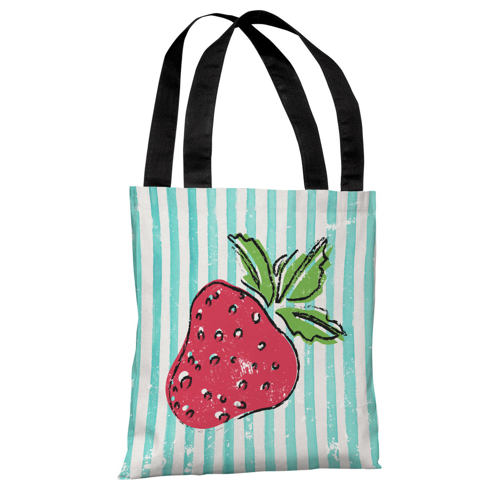 Strawbooty - Teal Multi Tote Bag by OBC