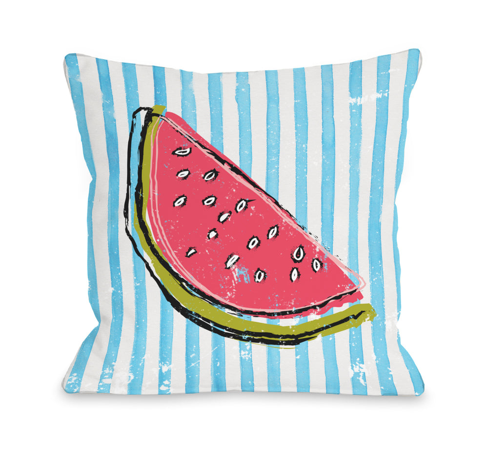 Whatthemelon - Blue Multi Throw Pillow by OBC